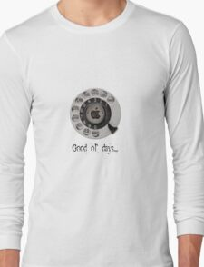 Traditional rotary telephone dial. Apple. Long Sleeve T-Shirt
