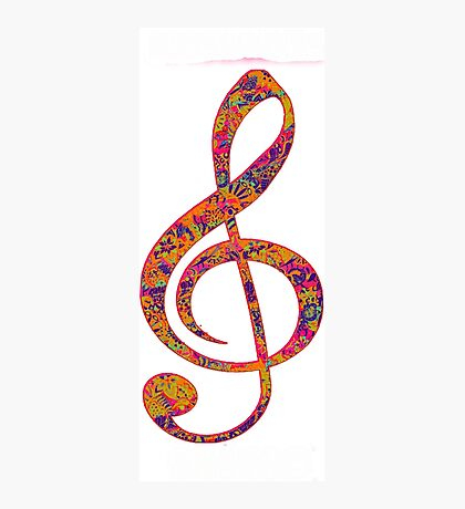 Psychedelic Music note 4 Photographic Print