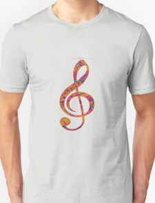 Psychedelic Music note 4 T-Shirt