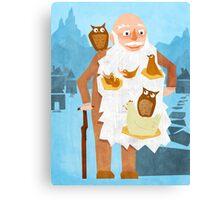 Old Man with Bird Nest Beard Canvas Print