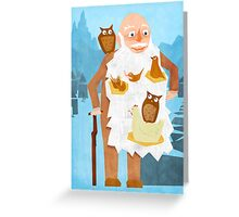 Old Man with Bird Nest Beard Greeting Card