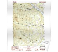 USGS Topo Map  Vermont VT Sterling Mountain 337664 1986 24000 Poster