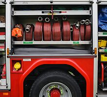 Close Up of British Fire Engine by Heidi Stewart
