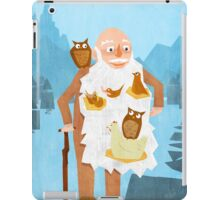 Old Man with Bird Nest Beard iPad Case/Skin