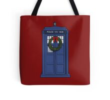 Christmas Tardis Tote Bag