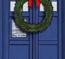 Christmas Tardis Sticker