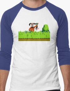 Duck Hunt Dog with Duck Men's Baseball ¾ T-Shirt