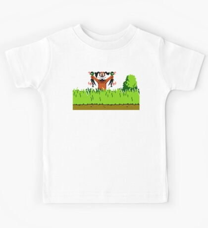 Duck Hunt Dog with 2 Ducks Kids Tee