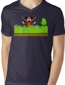 Duck Hunt Dog with 2 Ducks Mens V-Neck T-Shirt