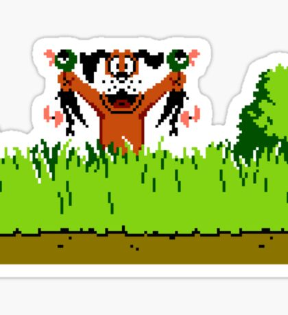 Duck Hunt Dog with 2 Ducks Sticker