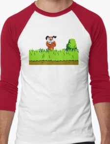 Duck Hunt Dog laughing Men's Baseball ¾ T-Shirt