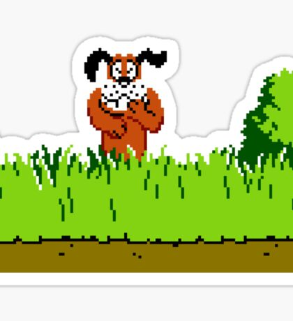 Duck Hunt Dog laughing Sticker
