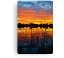 Sunrise Lake Reflections Canvas Print