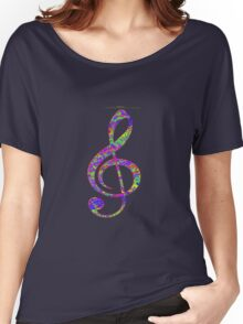 Psychedelic Music note 3 Women's Relaxed Fit T-Shirt