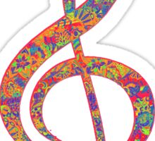 Psychedelic Music note 2 Sticker