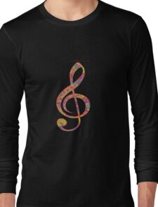 Psychedelic Music note 2 Long Sleeve T-Shirt