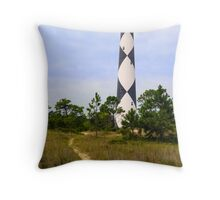 Pathway to Cape Lookout Lighthouse Throw Pillow