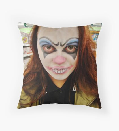 Clowning. Throw Pillow