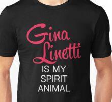 Gina Linetti is my spirit animal (white font) Unisex T-Shirt