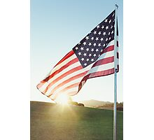 United States of America Flag Photographic Print