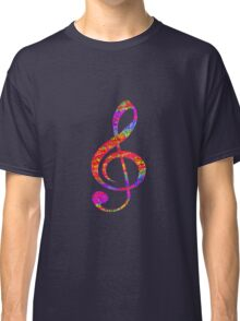 Psychedelic Music note 1 Classic T-Shirt