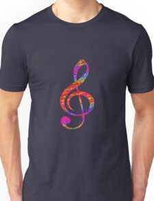 Psychedelic Music note 1 Unisex T-Shirt
