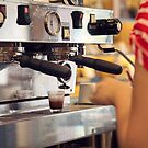 Barista Extracting a Shot of Espresso by visualspectrum