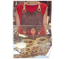 Young Woman Selling Cupcakes Poster