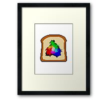Bread Green Blue Framed Print