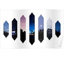 Blue Nature Crystals Poster