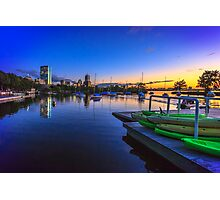 Green Kayaks Photographic Print