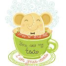 Tea and Cookie - Rondy the Elephant by oksancia