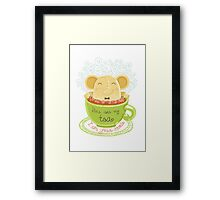 Tea and Cookie - Rondy the Elephant Framed Print
