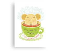 Tea and Cookie - Rondy the Elephant Canvas Print