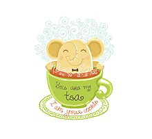 Tea and Cookie - Rondy the Elephant Photographic Print