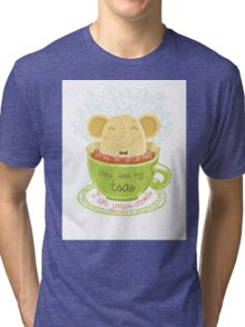 Tea and Cookie - Rondy the Elephant Tri-blend T-Shirt