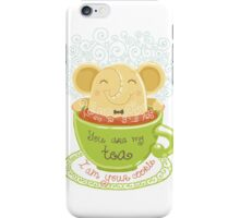 Tea and Cookie - Rondy the Elephant iPhone Case/Skin