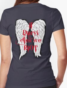 If Daryl Dies... Womens Fitted T-Shirt