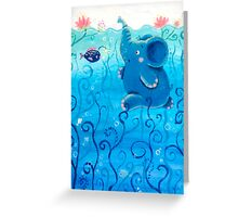 Underwater Adventure - Rondy the Elephant Painting Greeting Card