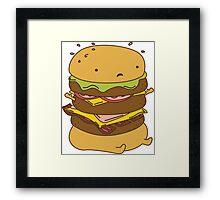 Burger Got Back Framed Print