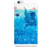 Underwater Adventure - Rondy the Elephant Painting iPhone Case/Skin