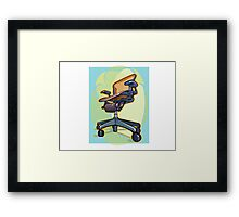 Office chair Framed Print