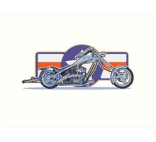 Chopper motorcycle Art Print