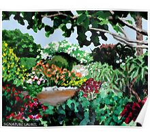 Plein Air in the Garden Poster