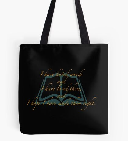 The Book Thief- I have hated words Tote Bag