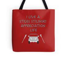 I Live a Stiles Stilinski Appreciation Life Tote Bag