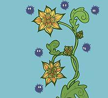 Soot Sprites with Flowers by missmann