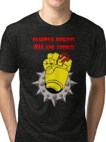 Tabletop gaming - always angry, all the time - powerfist Tri-blend T-Shirt