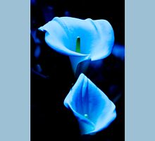 Beautiful Calla Lilies Pair Bathed in Blue Light Unisex T-Shirt