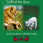 Lion Lie Down with Lamb, Christmas by SandraRose